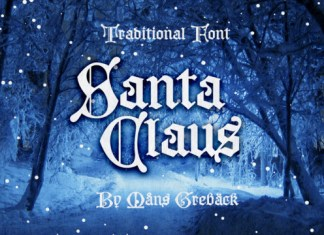 Santa Claus Font