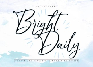 Bright Daily Font