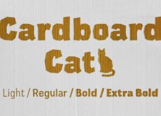 Cardboard Font