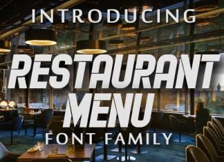 Restaurant Menu Font