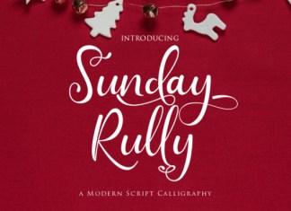 Sunday Rully Font