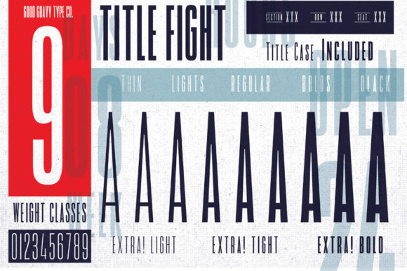 Title Fight Font