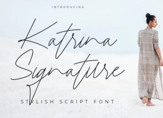 Katrina Signature Font