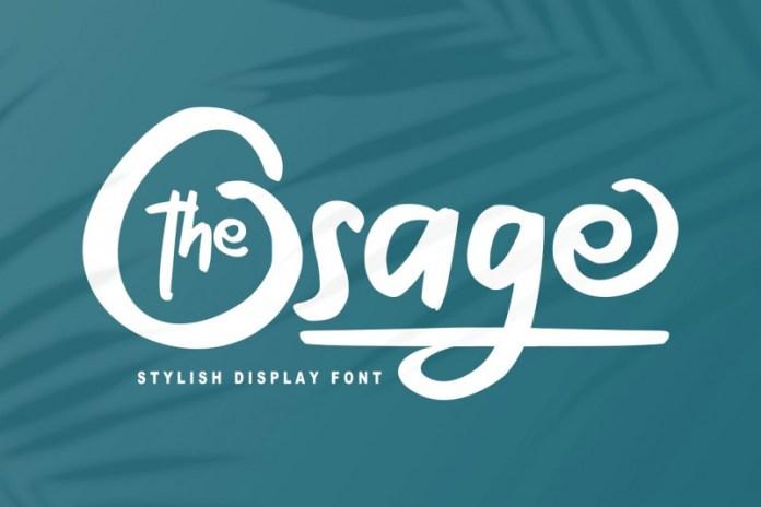 The Osage Font