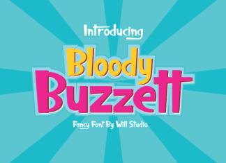 Bloody Buzzett Font