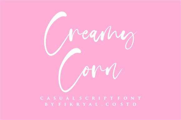 Creamy Corn Font