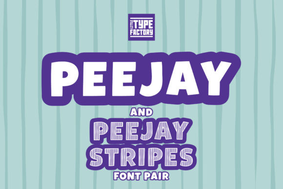 Peejay & Peejay Stripes Font