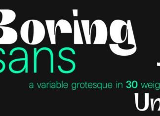 Boring Font
