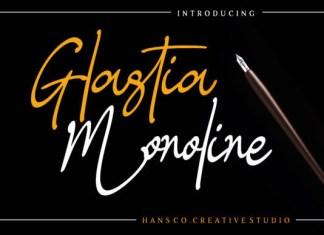 Glastia Monoline Font
