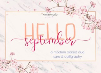 Hello September Font