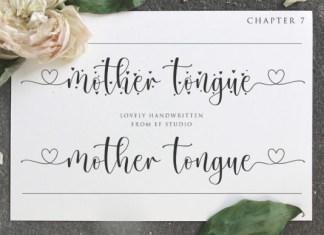 Mother Tongue Font