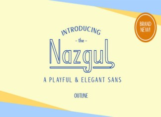 Nazgul Outline Font