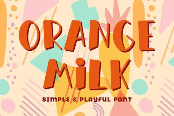 Orange Milk Font