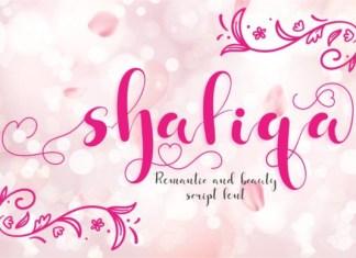 Shafiqa Font