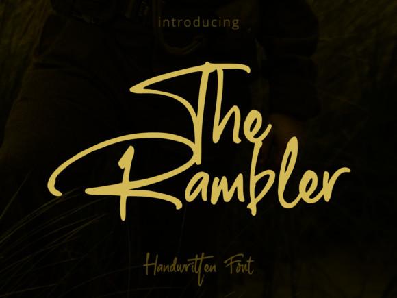 The Rambler Font