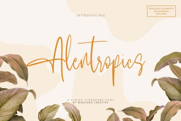 Alentropics Font