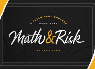 Math & Risk Font