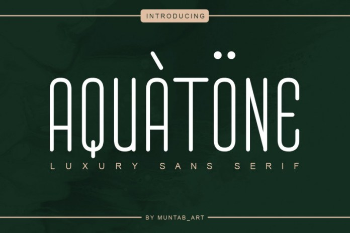 Aquatone Font
