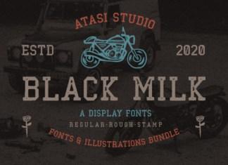 Black Milk Font