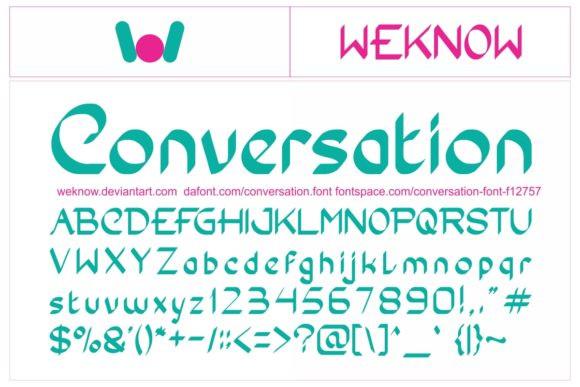Conversation Font
