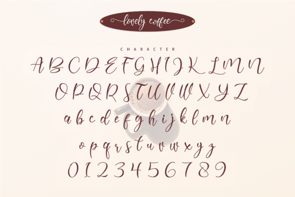 Lovely Coffee Font