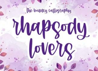 Rhapsody Lovers Font