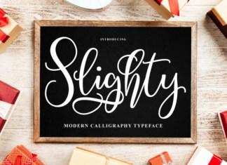 Slighty Font