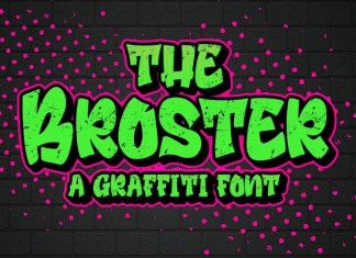 Broster Graffiti Font