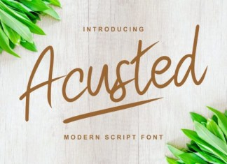 Acusted Font