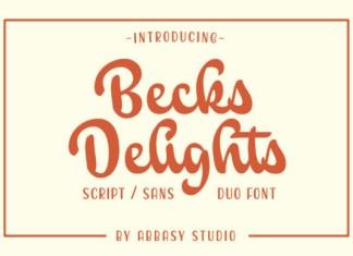 Becks Delights Font