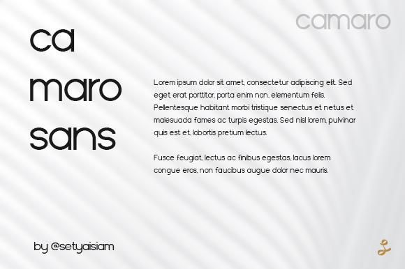 Camaro Font