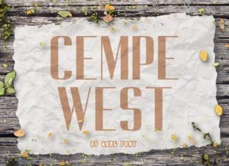 Cempe West Font