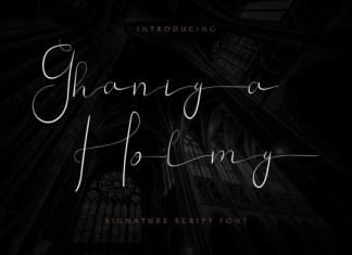 Ghaniya Holmy Font