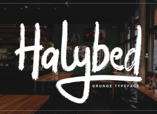 Halybed Font