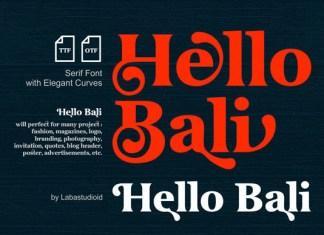 HelloBali Font