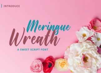 Maringue Wreath Font