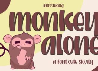 Monkey Alone Font