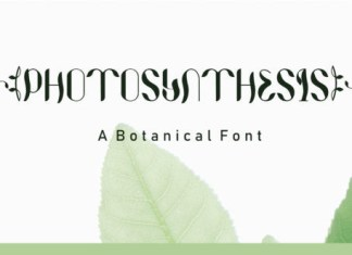 Photosynthesis Font