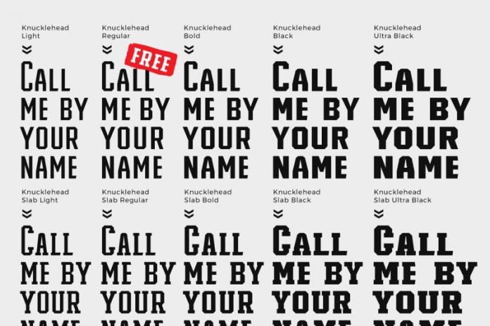 Knucklehead Font
