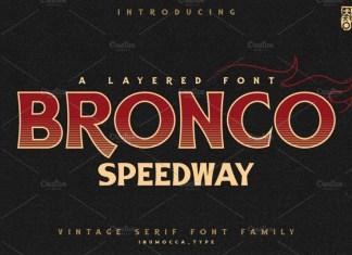 BRONCO SpeedWay Font