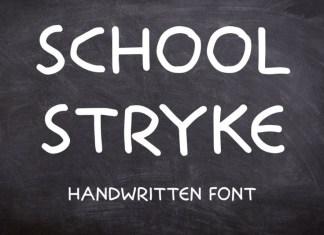 School Stryke Font