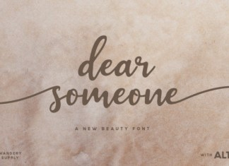 Dear Someone Font