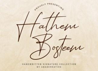 Hathem Bosteem  Font