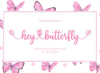 Hey Butterfly Font
