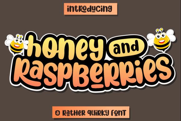 Honey and Raspberries Font