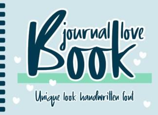 Journal Love Book Font