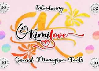 Kimilove Monogram Font