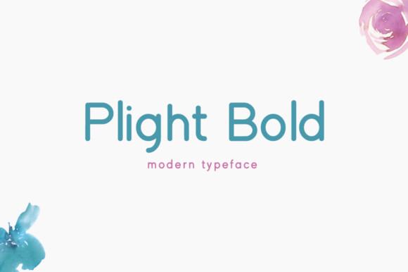 Plight Bold Font