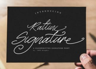 Rattini Signature  Font