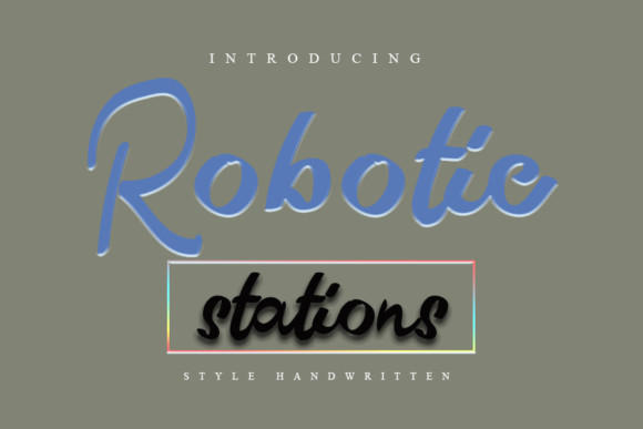 Robotic Stations Font